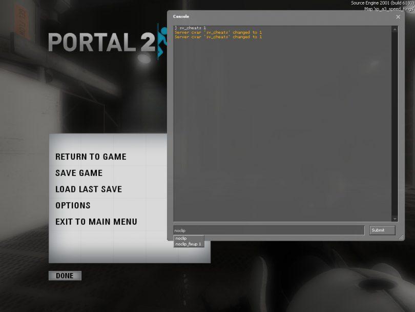 portal 2 cheats
