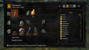 dark souls inventory